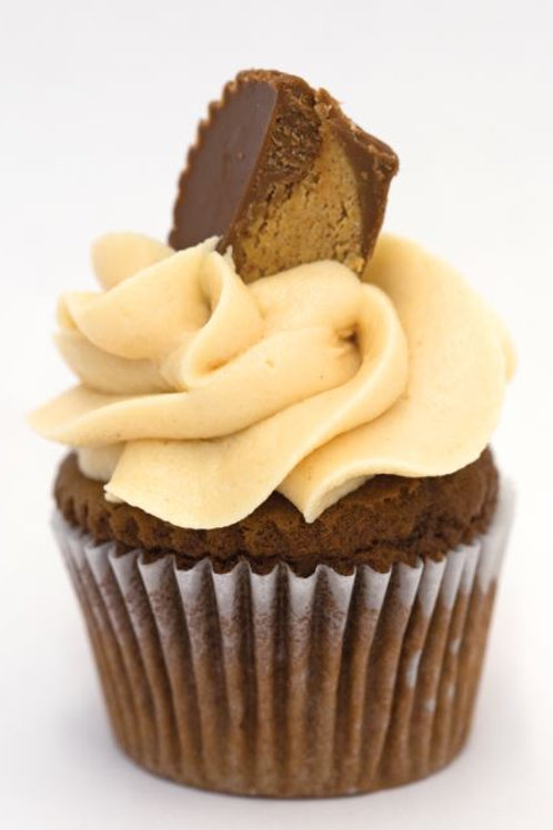 6 Nutty Butter Cupcakes