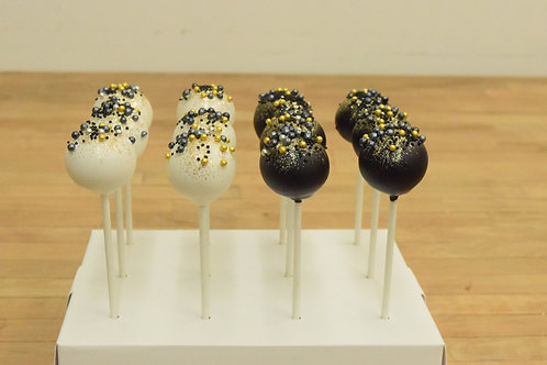6 New Years Cake Pops (6 per color)