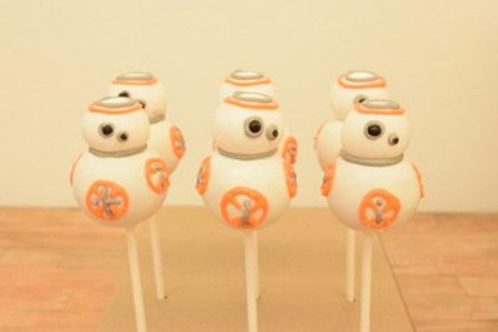 BB-8 Cake Pops, Star Wars Pops, Los Angeles Bakery, Sherman Oaks