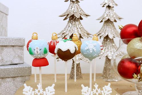 6 Holiday Cake Pops (6 per design)