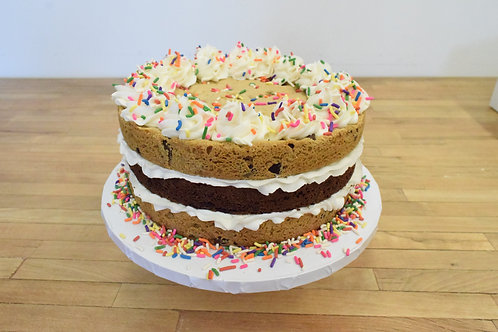 Chocolate Chip Brownie Cookie Cake (3 size options)