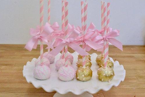 Baby Girl Cake Pops, Girl Cake Pops, Baby Shower Cake Pops,Los Angeles Bakery, Sherman Oaks