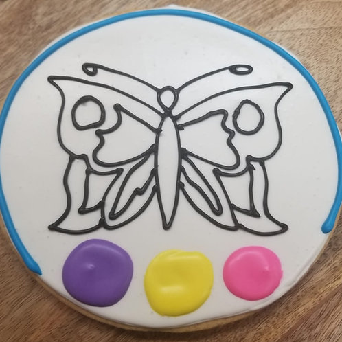 "6.5"" Color Me In Cookie (Butterfly)"