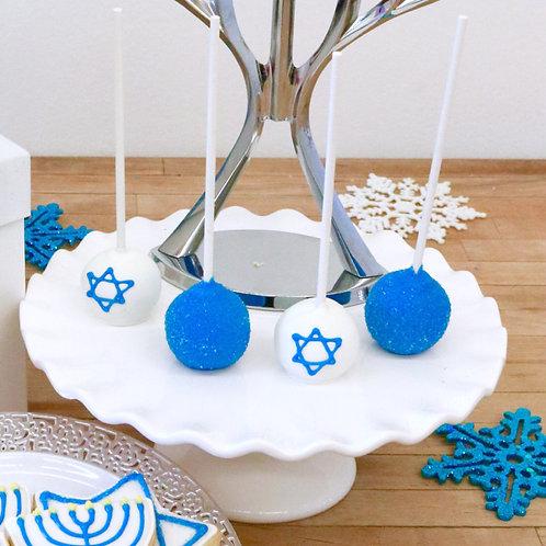 6 Hanukkah Cake Pops (6 per design)
