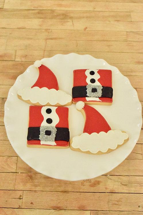 6 Santa Hat or 6 Santa Suit Cookies (6 per design)