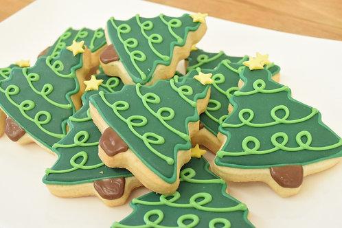 6 Tree Cookies