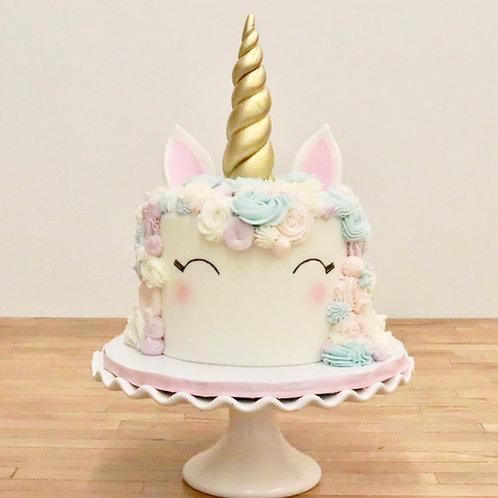 Blushing Unicorn Cake