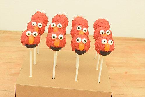 Elmo Cake Pops, Sesame Street, Los Angeles Bakery, Sherman Oaks Bakery