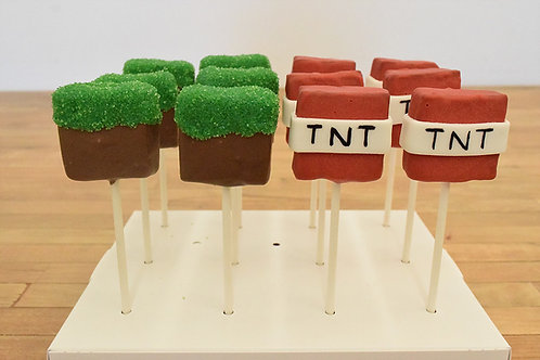 Minecraft Cake Pops, Custom Cake Pops, Los Angeles Bakery, Sherman Oaks