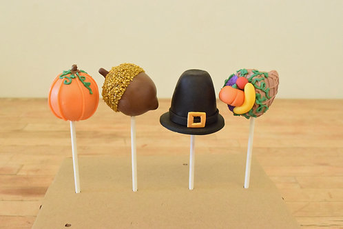 Thanksgiving Cake Pops (6 per design)