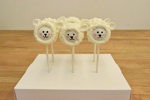 6 Sheep Cake Pops