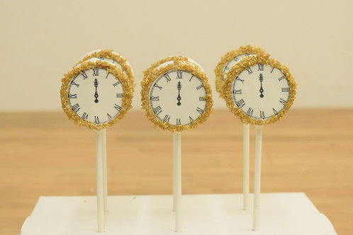 6 New Years Clock Cake Pops
