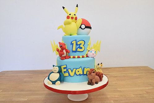 Pokemon Cake, Pikachu Cake, Los Angeles Bakery, Sherman Oaks