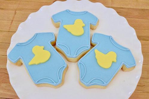 Onesie Cookies, Baby Shower Cookies, Ducky Cookies, Custom Cookies,Los Angeles Bakery, Sherman Oaks