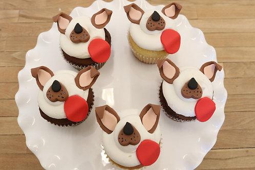 6 Snapchat Dog Cupcakes