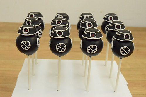 BB-9 Cake Pops, Star Wars Cake Pops, Los Angeles Bakery, Sherman Oaks