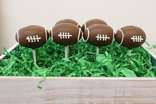 6 Football Cake Pops