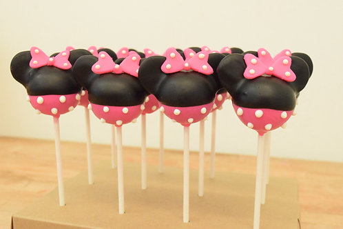 Minnie Mouse Cake Pops Los Angeles Bakery
