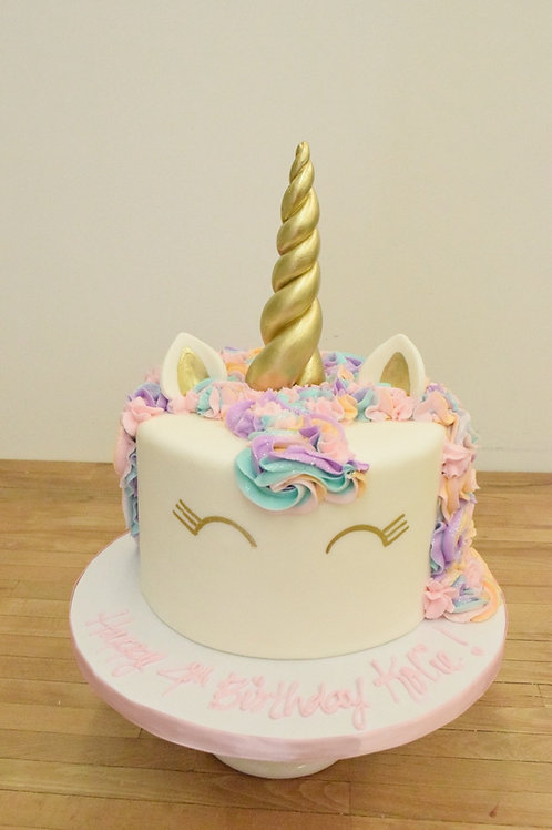 Unicorn Cake (4 colors in hair) 3 Size Options