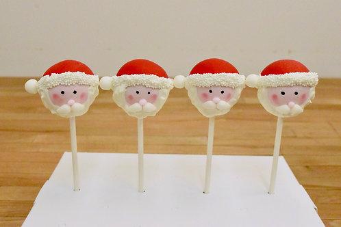 6 Santa Cake Pops