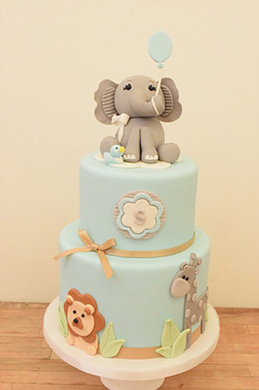 Elephant and Friends Cake
