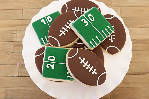 6 Football or 6 Field Cookies