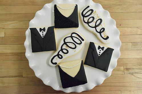 6 New Years Cookies (6 per design)