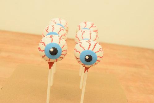 6 Eyeball Cake Pops