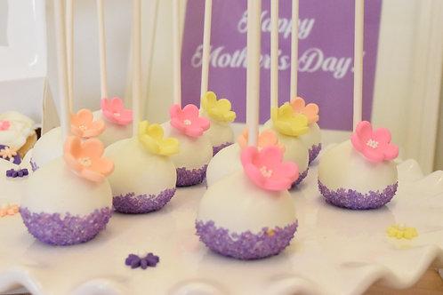 12 Flower Cake Pops
