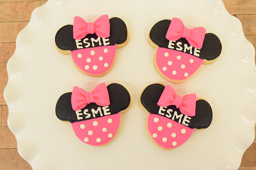 Minnie Mouse Cookies with Bow Los Angeles Bakery