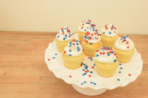 6 Sprinkle Miniature Cupcakes