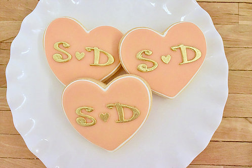 Initial Cookies, Bridal Shower Cookies, Los Angeles Bakery, Sherman Oaks