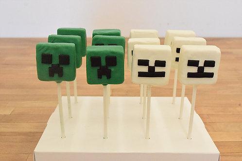 Minecraft Cake Pops, Custom Cake Pops, Los Angeles Bakery, Sherman Oaks
