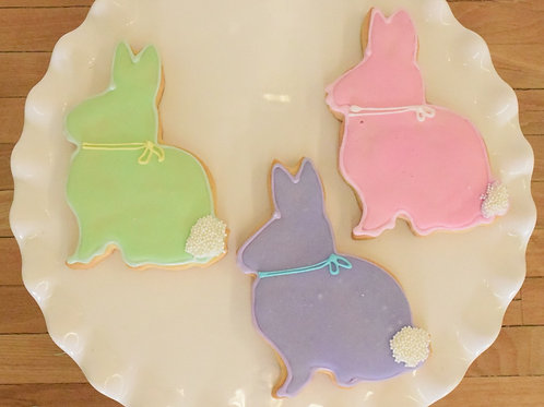 6 Bunny Silhouette Cookies