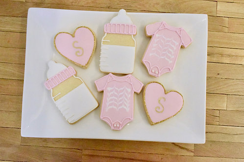 Baby Girl Cookies, Baby Shower Cookies,Los Angeles Bakery, Sherman Oaks