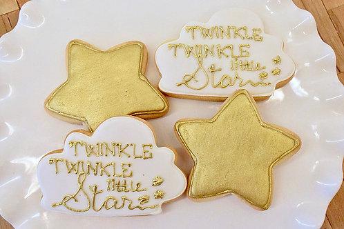 Twinkle Twinkle Little Star Cookies, Baby Shower Cookies,  Los Angeles Bakery, Sherman Oaks Bakery