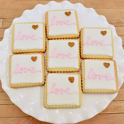 Bridal Shower Cookies, Blush and Gold Cookies,Los Angeles Bakery, Sherman Oaks