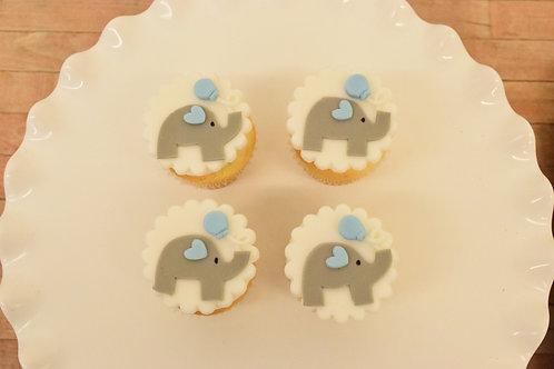 Elephant Cupcakes, Baby Shower Cupcakes, Custom Cupcakes, Los Angeles Bakery, Sherman Oaks