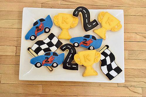 6 Race Car Cookies (6 per design)