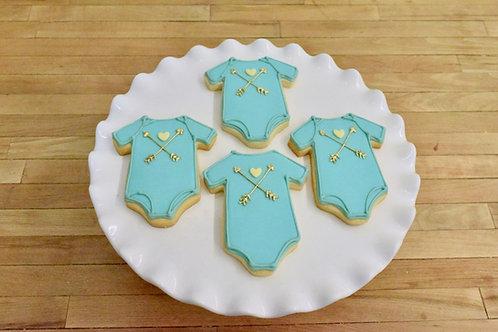 6 Arrow Onesie Cookies (any color)