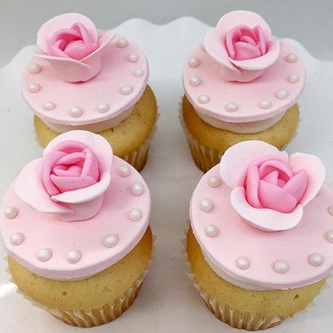 Bridal Cupcakes, Rose Cupcakes, Los Angeles Bakery, Sherman Oaks