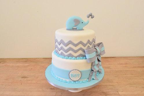 Chevron Elephant Cake