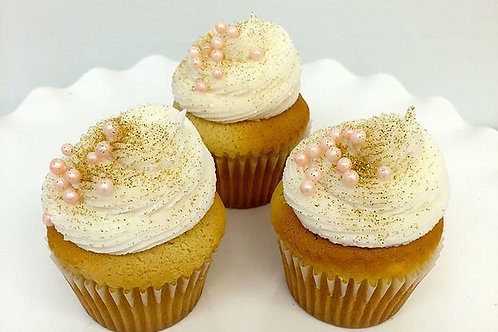 Custom Cupcakes, Blush and Gold Cupcakes,Los Angeles Bakery, Sherman Oaks