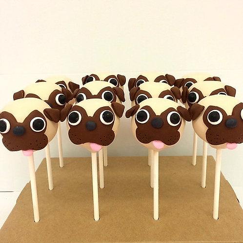 6 Pug Dog Cake Pops