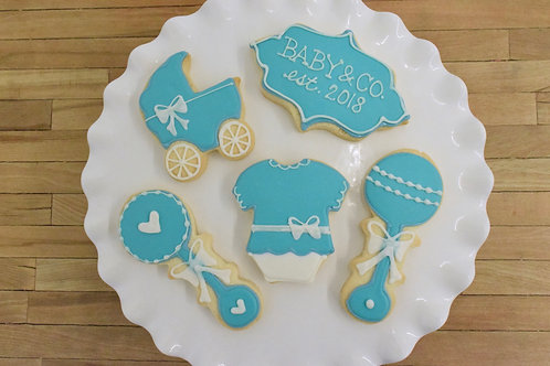 Tiffany and Co Cookies, Baby Shower Cookies, Los Angeles Bakery, Sherman Oaks