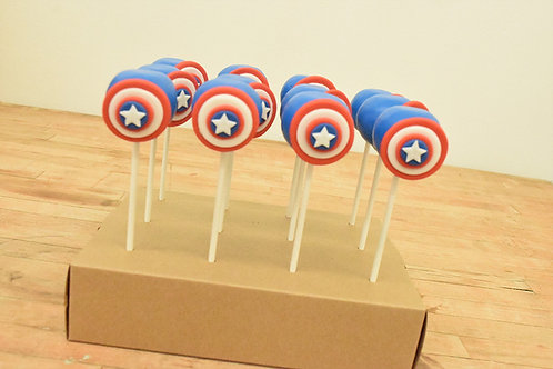 Captain America Cake Pops  Los Angeles Bakery Sherman Oaks