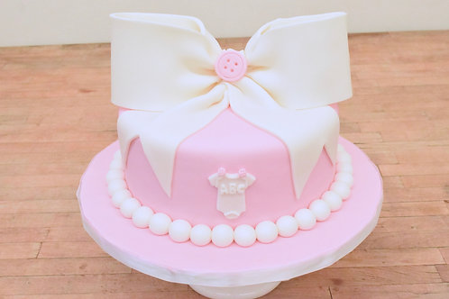 Baby Girl Bow Cake