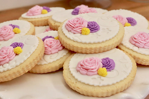 12 Rose Sugar Cookies