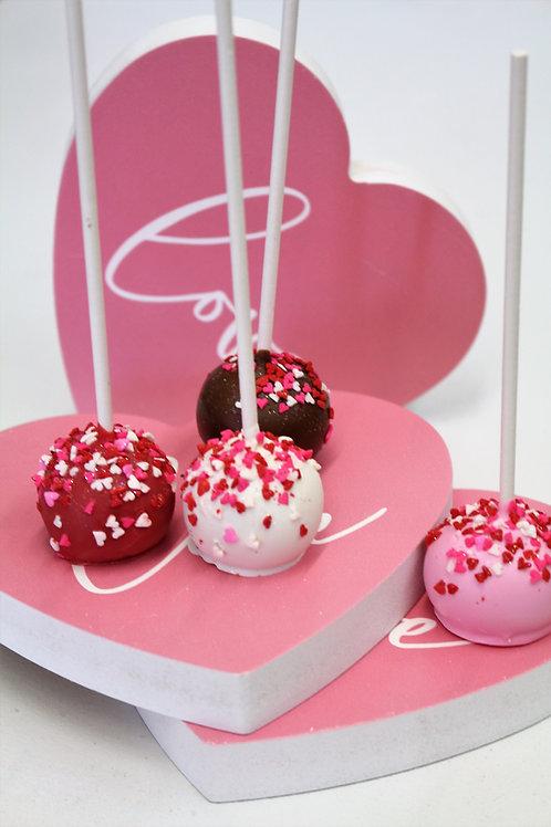 6 Valentine's Cake Pops