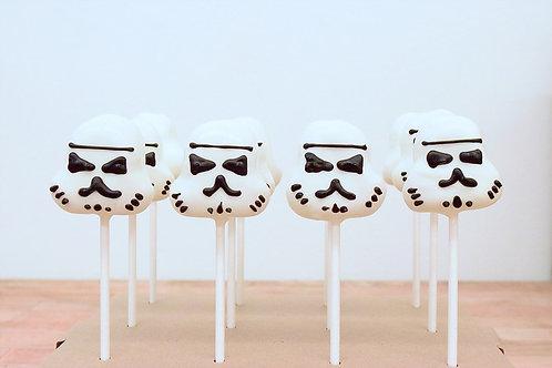 Storm Trooper Cake Pops, Star Wars Cake Pops, Los Angeles Bakery, Sherman Oaks